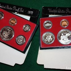 Monedas antiguas de América: 2 SET ESTADOS UNIDOS 1973 Y 1977 UNITED STATES. Lote 78957817