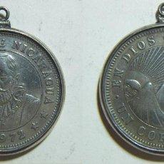 Monedas antiguas de América: NICARAGUA 1 CORDOBA 1972 - 29MM CON COLGANTE DE PLATA. Lote 79881485