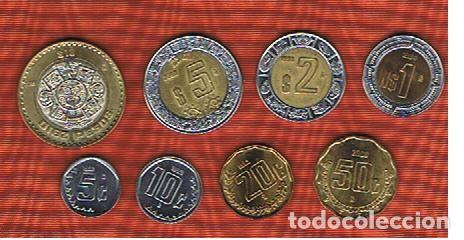 mexico 5 10 20 50 cent 1 2 5 10 pesos seri comprar monedas antiguas de m rica en. Black Bedroom Furniture Sets. Home Design Ideas