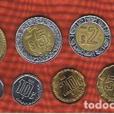 Monedas antiguas de América: MEXICO : 5-10-20-50 CENT. 1-2-5-10 PESOS (SERIE DE 8). EBC/SC.AU/UNC. KM SET. Lote 80099153