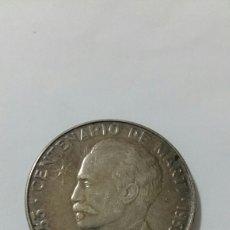 Monedas antiguas de América: PESO CUBA CENTENARIO DE MARTI 1953 PLATA. Lote 81703486