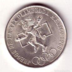 Monedas antiguas de América: MEXICO 25 PESOS PLATA OLIMPIADAS DE MEXICO 1968 S/C. Lote 82770532