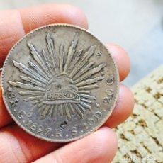 Monedas antiguas de América: MÉXICO 8 REALES 1897 RESELLOS. Lote 83011286