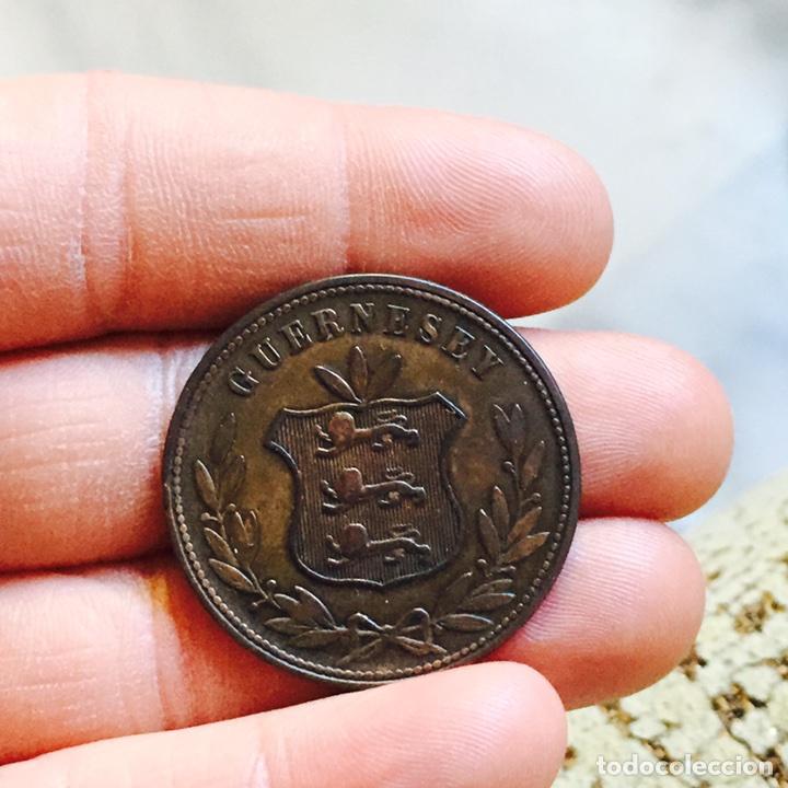 Monedas antiguas de América: Guernsey 8 doubles 1864 - Foto 2 - 83011516