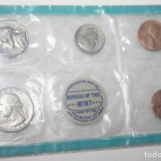 Monedas antiguas de América: SET ESTADOS UNIDOS MONEDAS 1968 CECA FILADELFIA DIVISIONARIAS 1, 1S, 5, 10 Y 25 CENTS. Lote 160652160