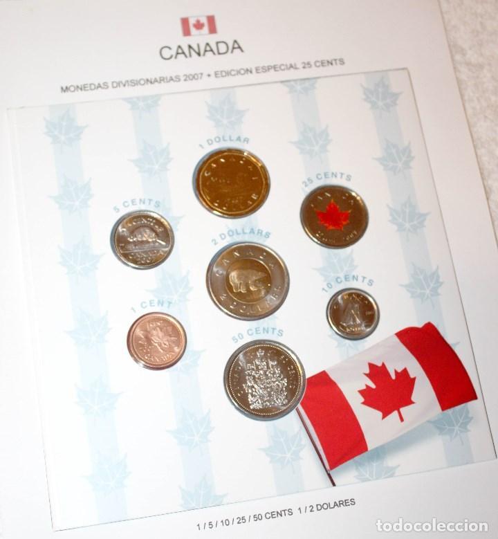CANADÁ MONEDAS DIVISIONARIAS 2007 CON EDICIÓN ESPECIAL DE 25 CENTS (Numismática - Extranjeras - América)