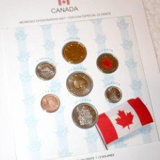 Monedas antiguas de América: CANADÁ MONEDAS DIVISIONARIAS 2007 CON EDICIÓN ESPECIAL DE 25 CENTS. Lote 83072184