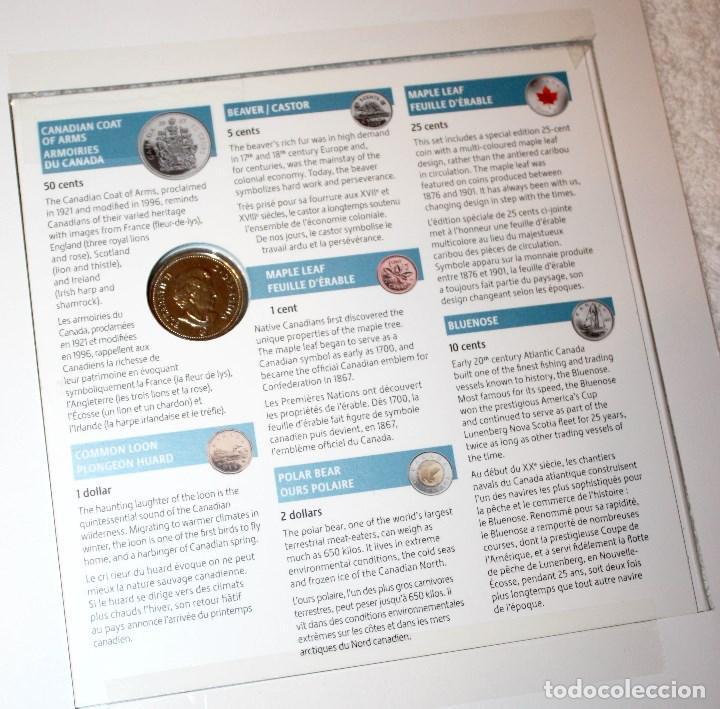 Monedas antiguas de América: CANADÁ MONEDAS DIVISIONARIAS 2007 CON EDICIÓN ESPECIAL DE 25 CENTS - Foto 2 - 83072184