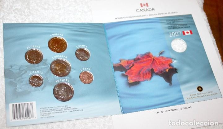 Monedas antiguas de América: CANADÁ MONEDAS DIVISIONARIAS 2007 CON EDICIÓN ESPECIAL DE 25 CENTS - Foto 3 - 83072184