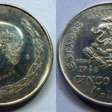 Monedas antiguas de América: MONEDA DE MEJICO, MEXICO PLATA 5 PESOS 1952 HIDALGO 27,80GR. Lote 83826080