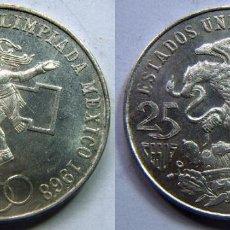 Monedas antiguas de América: MONEDA DE MEJICO, MEXICO PLATA 25 PESOS 1968 . Lote 83826920