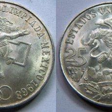 Monedas antiguas de América: MONEDA DE MEJICO, MEXICO PLATA 25 PESOS 1968 . Lote 83826992