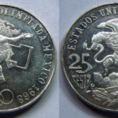 Monedas antiguas de América: MONEDA DE MEJICO, MEXICO PLATA 25 PESOS 1968 . Lote 83827136