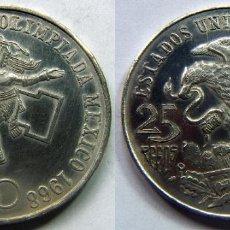 Monedas antiguas de América: MONEDA DE MEJICO, MEXICO PLATA 25 PESOS 1968. Lote 83827220