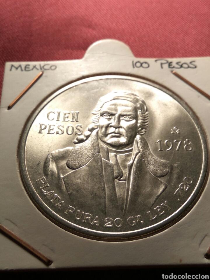 CIEN PESOS 1978 PLATA SC (Numismática - Extranjeras - América)