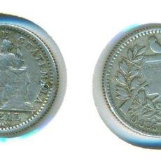 Monedas antiguas de América: GUATEMALA 1/2 REAL 1894 H (BC) - PLATA. Lote 85786852