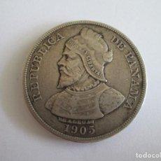 Monedas antiguas de América: PANAMA * 50 CENTESIMOS DE BALBOA 1905 * PLATA. Lote 86122604