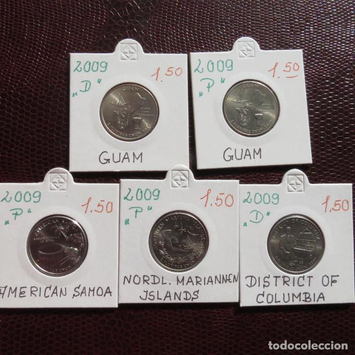Usa Estados Unidos 5 Monedas Diferentes 25 Cent Comprar Monedas