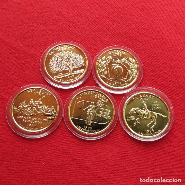Usa Estados Unidos 5 Monedas 25 Cent 1999 E Comprar Monedas