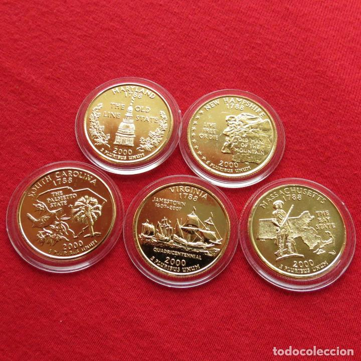 Usa Estados Unidos 5 Monedas 25 Cent 2000 E Comprar Monedas