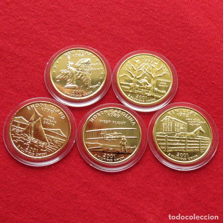 Usa Estados Unidos 5 Monedas 25 Cent 2001 E Comprar Monedas