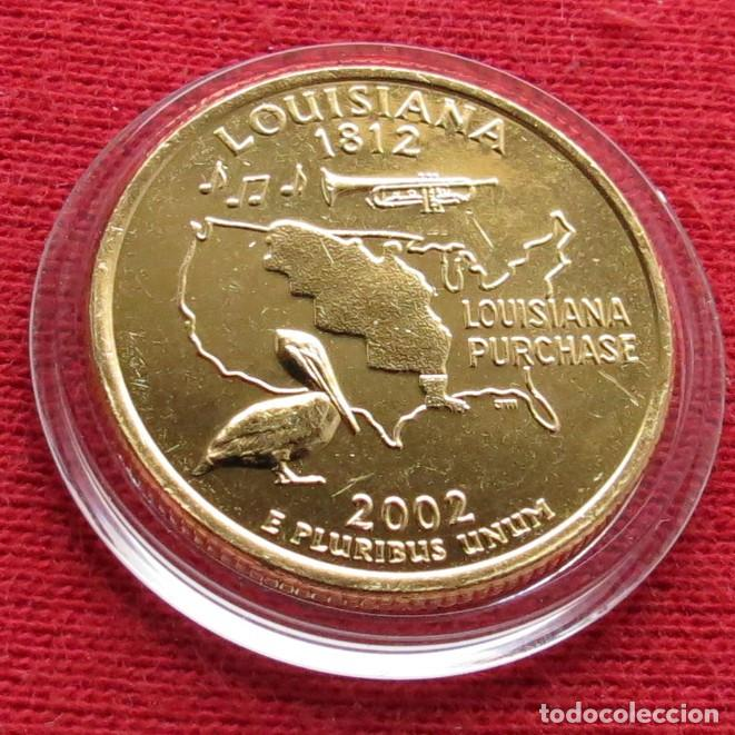 Usa Estados Unidos 25 Cent 2002 Louisiana Pel Comprar Monedas
