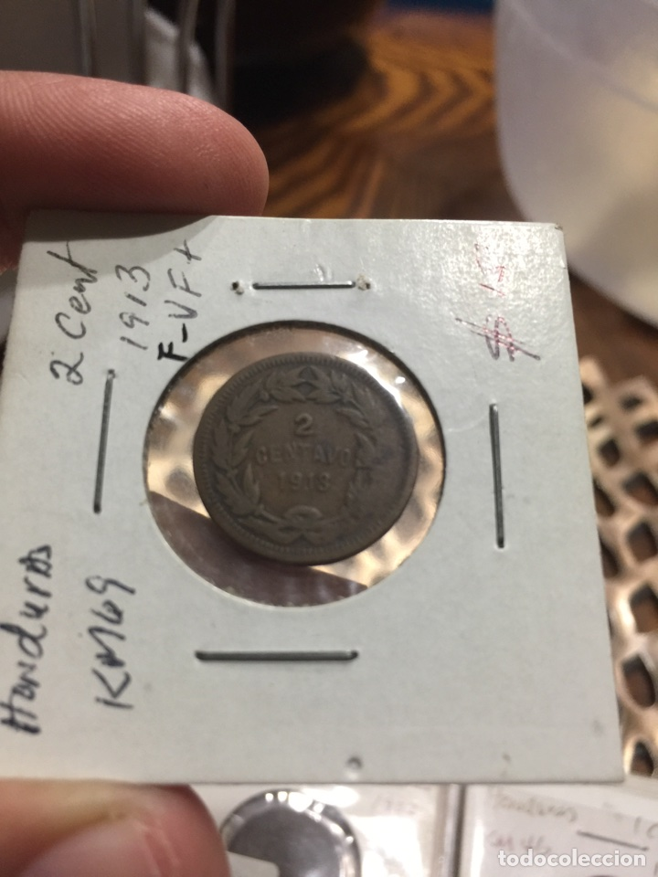 HONDURAS KM69 2 CENTAVOS 1913 (Numismática - Extranjeras - América)