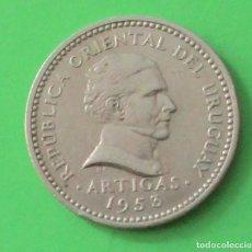 Monedas antiguas de América: URUGUAY. MONEDA DE 10 CENTÉSIMOS. 1953.. Lote 89415656