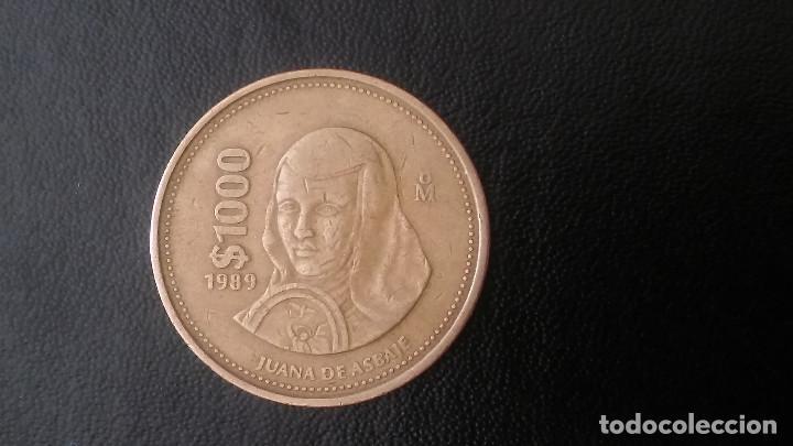 1000 PESOS MEJICO 1989 JUANA DE ASBAJE (Numismática - Extranjeras - América)