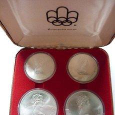 Monedas antiguas de América: 1972 CANADA - SET 4 MONEDAS DE PLATA OLIMPIADAS MONTREAL 1976, CON CERFIFICADO ACUÑACIONES ESPAÑOLAS. Lote 89550296