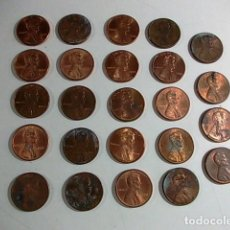 Monedas antiguas de América: LOTE DE 24 MONEDAS ONE CENT AÑOS 1990- 91D-94-95-97-98-99- 2003. Lote 117237242