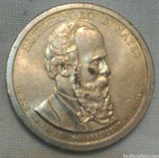 Monedas antiguas de América: MONEDA 1 $ PRESIDENTE RUTHERFORD B. HAYES. COLECCIÓN PRESIDENCIAL D LOS DÓLARES. ESTADOS UNIDOS 2007. Lote 91428838