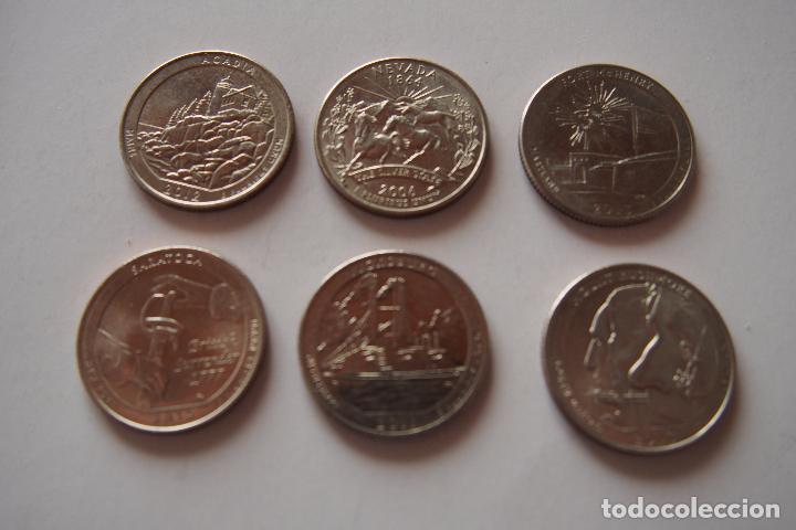 lote 6 monedas diferentes quarter dollar estado - Comprar Monedas ...