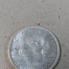 Monedas antiguas de América: MONEDA DE PLATA DOLLAR CANADA 1965. Lote 91912015
