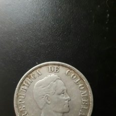 Monedas antiguas de América: MONEDA PLATA 50 CÉNTIMOS COLOMBIA 1922. Lote 254113715