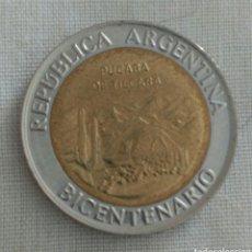 Monedas antiguas de América: MONEDA DEL BICENTENARIO DE LA REPÚBLICA DE ARGENTINA. PUCARA DE TILCARA. Lote 92808898