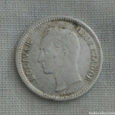 Monedas antiguas de América: MONEDA DE PLATA DE 1954 DE VENEZUELA DE 25 CÉNTIMOS. Lote 92816118