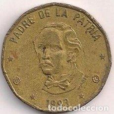Monedas antiguas de América: REPÚBLICA DOMINICANA - 1 PESOS 1993 - KM#80.1. Lote 93023105