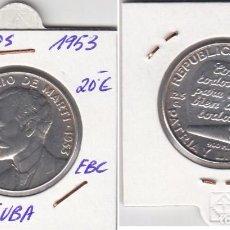 Monedas antiguas de América: TF3009 MONEDA CUBA 50 CENTAVOS PLATA 1953 EBC. Lote 93335575