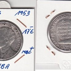 Monedas antiguas de América: TF4271 MONEDA CUBA 50 CENTAVOS PLATA 1953 MBC+ . Lote 93337535