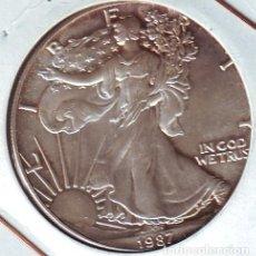Monedas antiguas de América: ESTADOS UNIDOS UN DOLAR 1 ONZA PLATA PURA 1987. Lote 94142365