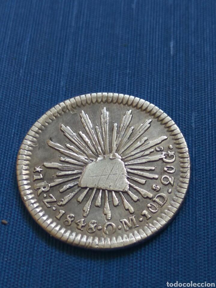 UN REAL 1848 ZACATECAS (Numismática - Extranjeras - América)