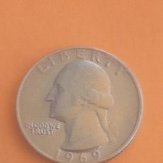 Monedas antiguas de América: 1/4 QUARTER DOLLAR 1969. Lote 94872372