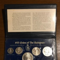 Monedas antiguas de América: BAHAMAS 1971 9 COIN SET WITH .925 STERLING SILVER $5 AND $2 PLUS .800 SILVER $1 AND 50 CENTS. Lote 95439939