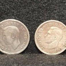 Monedas antiguas de América: LOTE DE 4 MONEDAS DE 10 CENTIMOS DE CANADA ( PLATA ). Lote 95525247