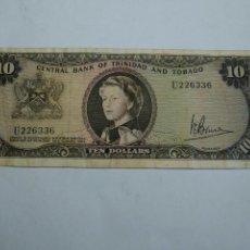 Monedas antiguas de América: 10 DOLARES DE TRINIDAD TOBAGO 1964. Lote 96064051