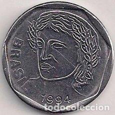 Monedas antiguas de América: BRASIL - 25 CENTAVOS 1994. Lote 96669307