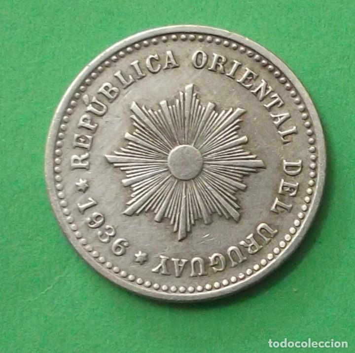 Monedas antiguas de América: URUGUAY. MONEDA DE 1 CENTÉSIMO 1936. - Foto 2 - 97217115