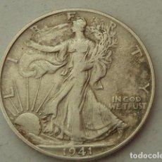 Monedas antiguas de América: MONEDA DE PLATA DE MEDIO DOLAR DE 1941 S, ESTADOS UNIDOS CECA DE SAN FRANCISCO, 1/2 DOLAR. Lote 97639435
