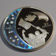 Monedas antiguas de América: MONEDA DE PLATA DE 25 DOLARES DE CANADA DEL AÑO 2007.VANCOUVER 2010.PROOF. Lote 97675951